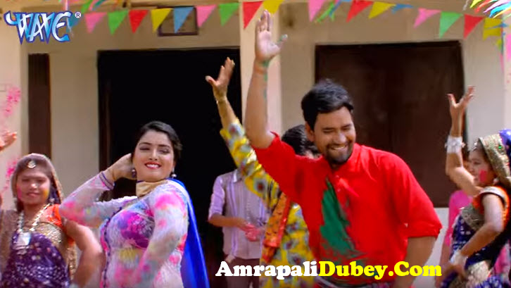 amrapali dubey holi song