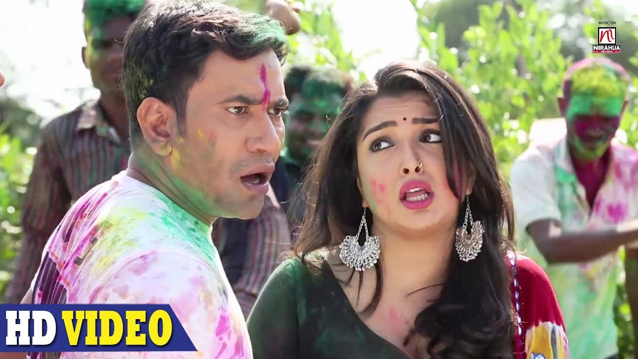 Holi Mein GST Jor Ke video song of Amrapali and Nirahua