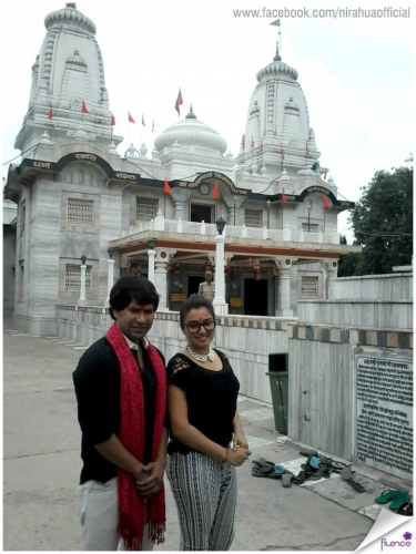 Amrapali with Nirahua at a Temple