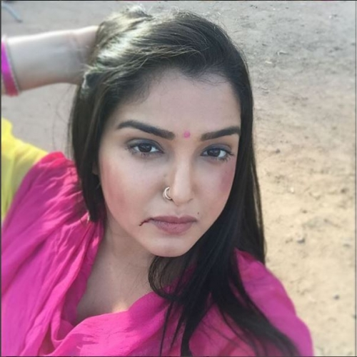 Amrapali Dubey shoots for a Fight sequence